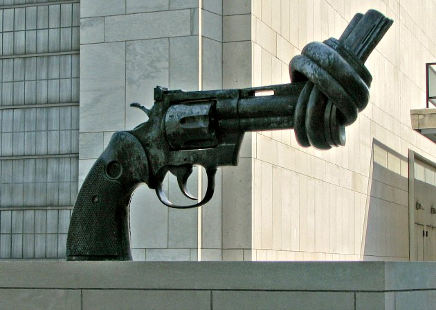 New York UN Gun Sculpture