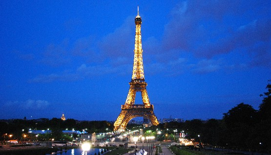 Paris Eiffel Tower night