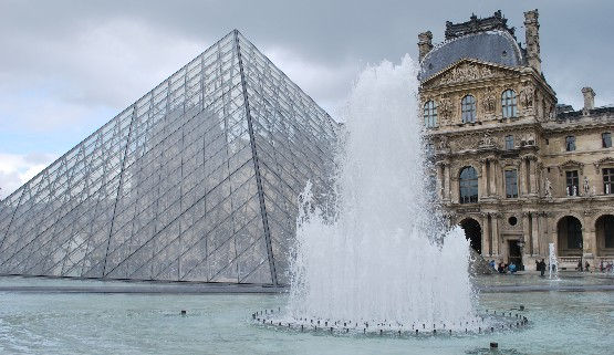 Paris Louvre fountains