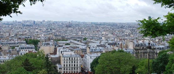 Paris Montmartre view from Sacre Coeur