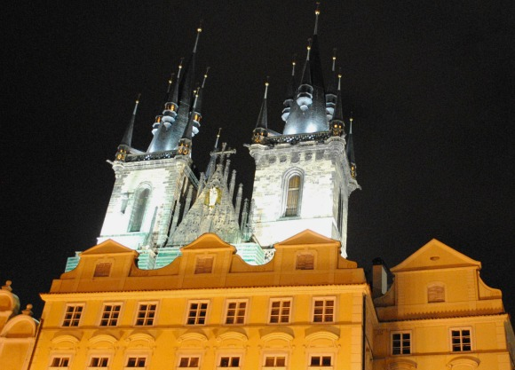 Prague Tyn Church Night