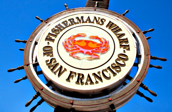 San Francisco Fishermans wharf sign