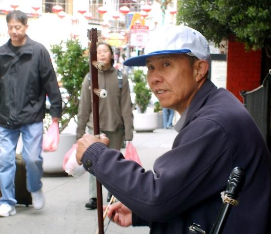 San Francisco chinatown street entertainer