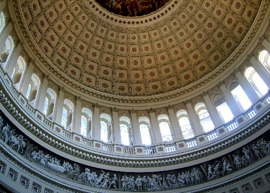 Washington Capitol dome ceiling (www.free-city-guides.com)