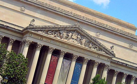 Washington National Archives no fountain