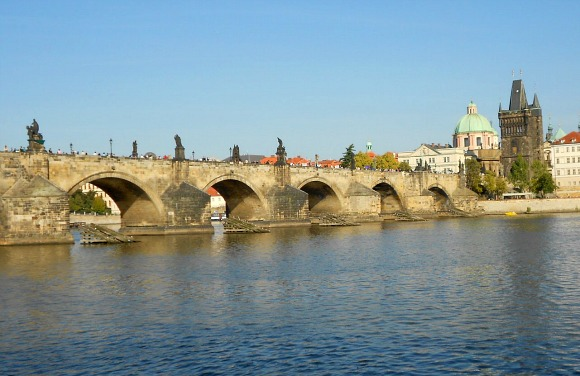 Prague Charles Bridge from Mala Strana