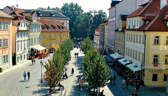 Prague Mala Strana Kampa Island