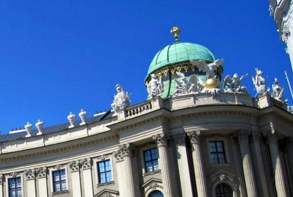 Vienna Hofburg Green dome
