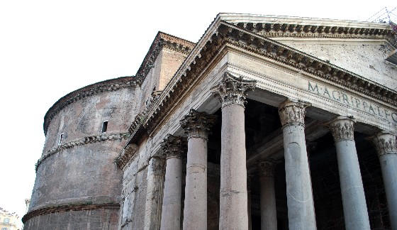 Rome Pantheon front and side (www.free-city-guides.com)