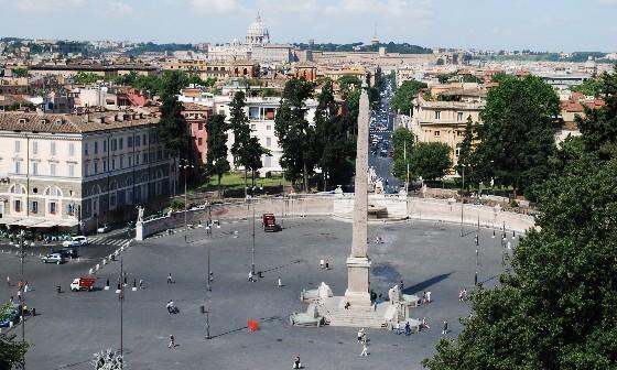 Rome Piazza del Popolo from Pincio Gardens (www.free-city-guides.com)