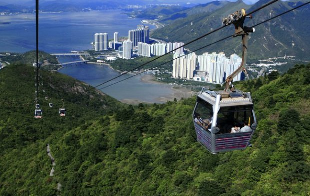 Hong Kong Lantau Island Cable Cars