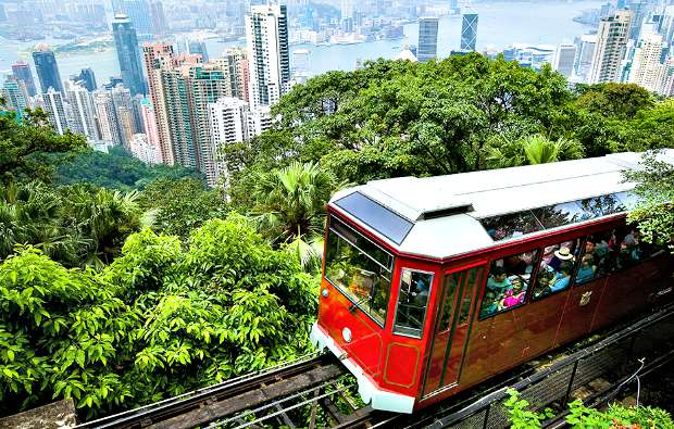 Hong Kong Peak Tram Sunshine