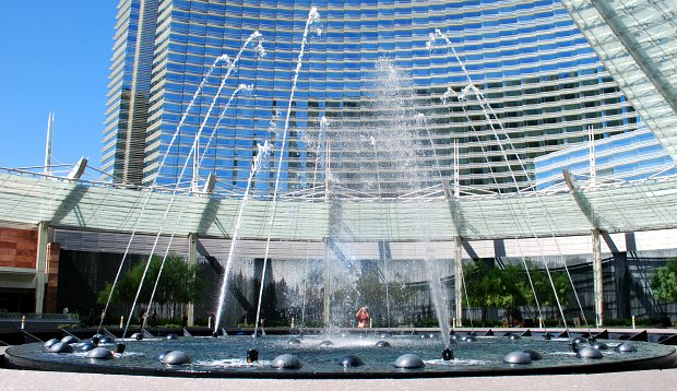 Las Vegas Aria Water Fountains
