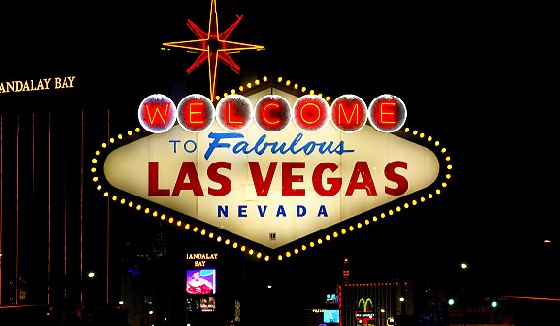 welcome to las vegas sign at night. Las Vegasquot; sign at night