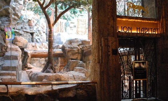 Las Vegas MGM Lion Habitat closed (www.free-city-guides.com)