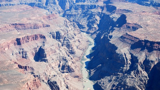 Las Vegas Grand Canyon West Rim from the air (www.free-city-guides.com)