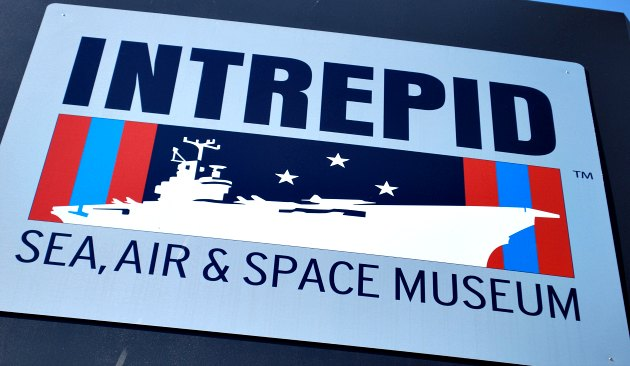 New York Intrepid Museum Sign