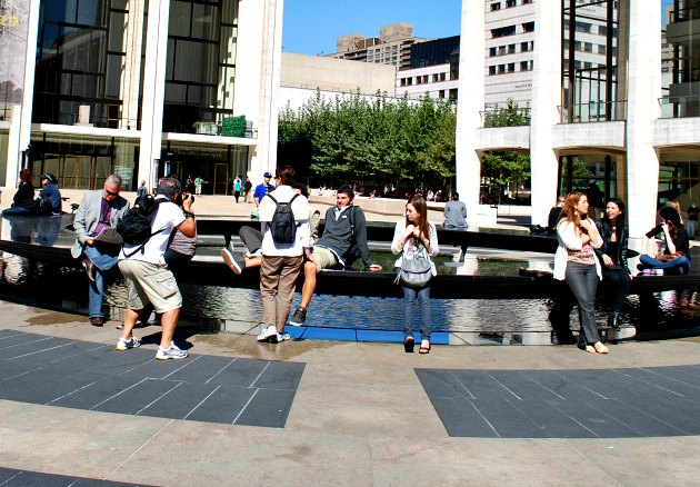 New York Lincoln Center Water Feature
