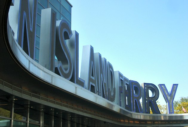 New York Staten Island Ferry Sign