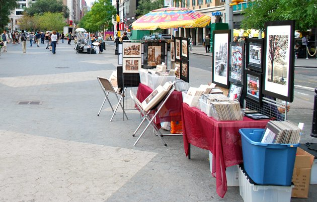 New York Union Square Art Stall