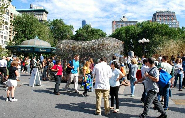 New York Union Square Crowds