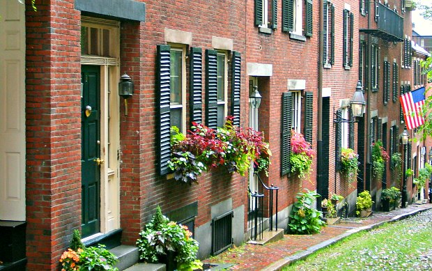 Boston Beacon Hill Acorn Street new