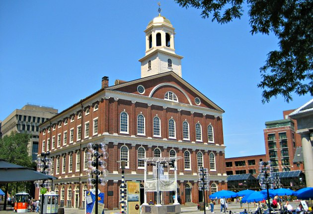 Boston Faneuil Hall sunshine