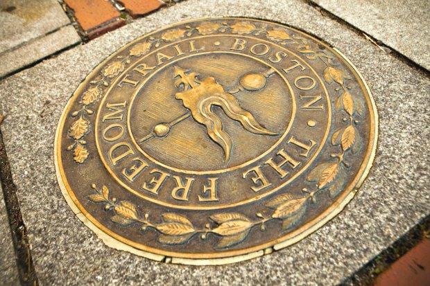 Boston Freedom Trail line