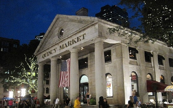 Boston Quincy Market Night Www Free City Guides