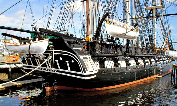 Boston USS Constitution rear