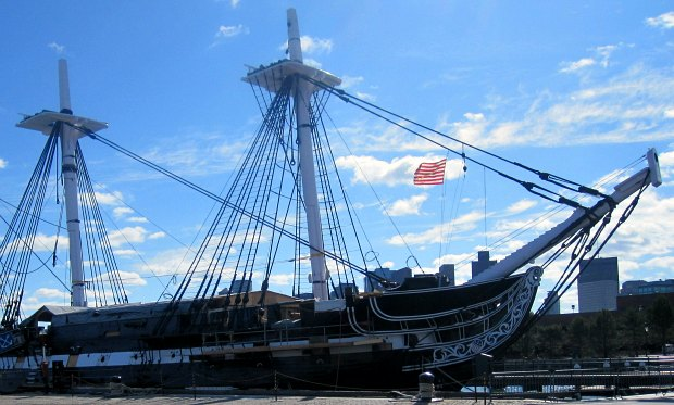 Boston USS Constitution sunshine