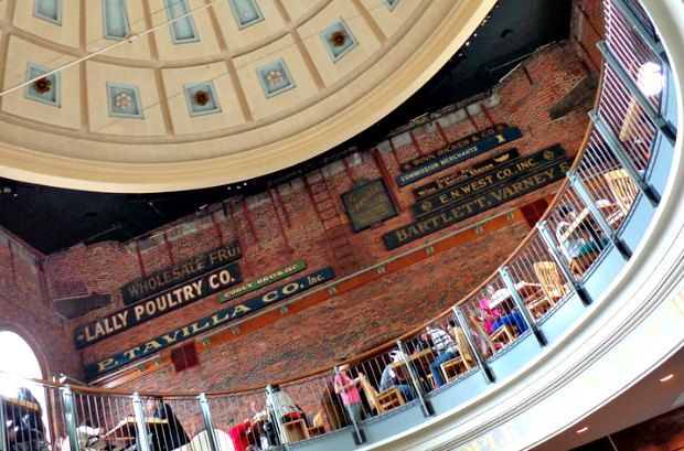Quincy Market dome and balcony