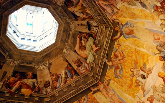 Florence Duomo dome climb painted ceiling (www.free-city-guides.com)