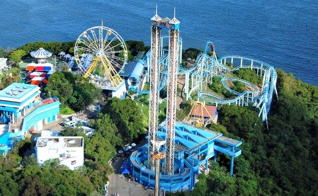 Hong Kong Ocean Park rollercoasters