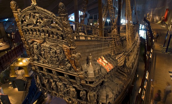 Stockholm Vasa Museum Ship Stern