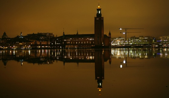 Stockholm City Hall at night Yanan Li
