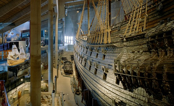 Stockholm Vasa Museum ship side