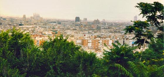 Barcelona Montjuice view