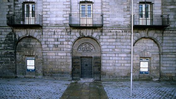 Kilmainham Gaol exterior - door and flag pole