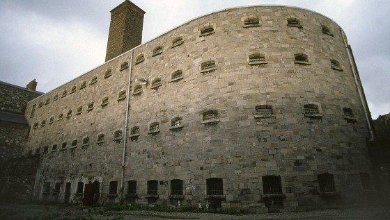 Kilmainham Gaol prison cells from the outside