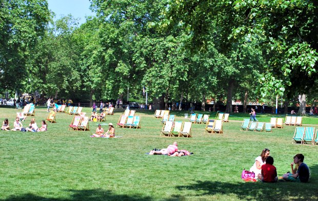 London Green Park Deckchairs