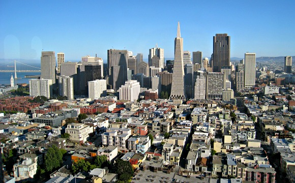 San Francisco Skyline from coit tower