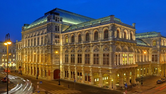 Vienna State Opera House at night