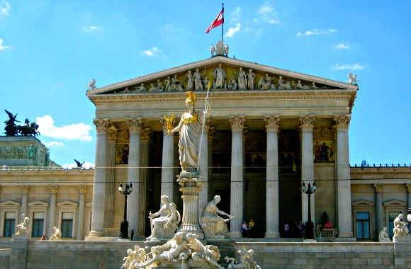 Vienna ring boulevard parliament