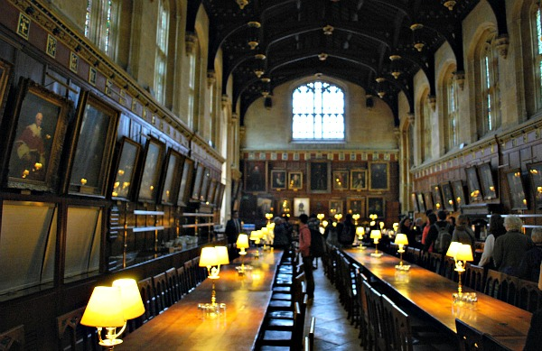 Oxford Christ Church Dining Room Hogwarts Hall (www.free-city-guides.com)