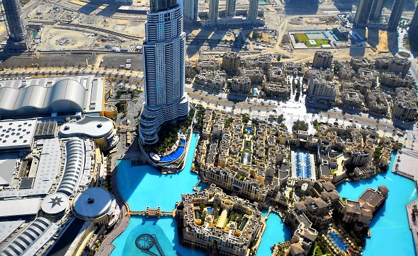 Dubai Burj Khalifa view of Dubai Mall