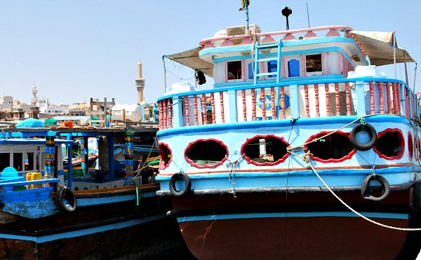 Dubai Creek Colourful Boats