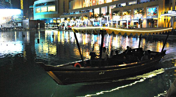 Dubai Fountain Abra Boats