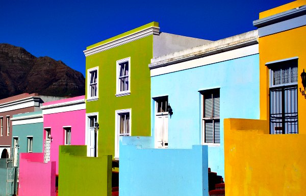Cape Town Bo Kaap houses