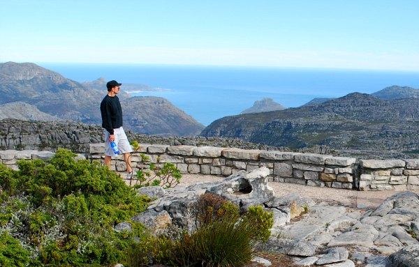 Cape Town Table Mountain sea